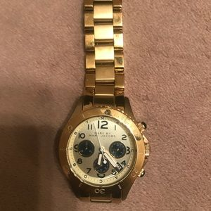 Marc Jacobs gold tone stainless steel watch